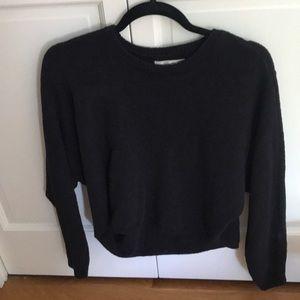 Abercrombie black fuzzy sweater